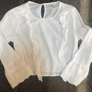Long sleeve, forever 21, white shirt with lace